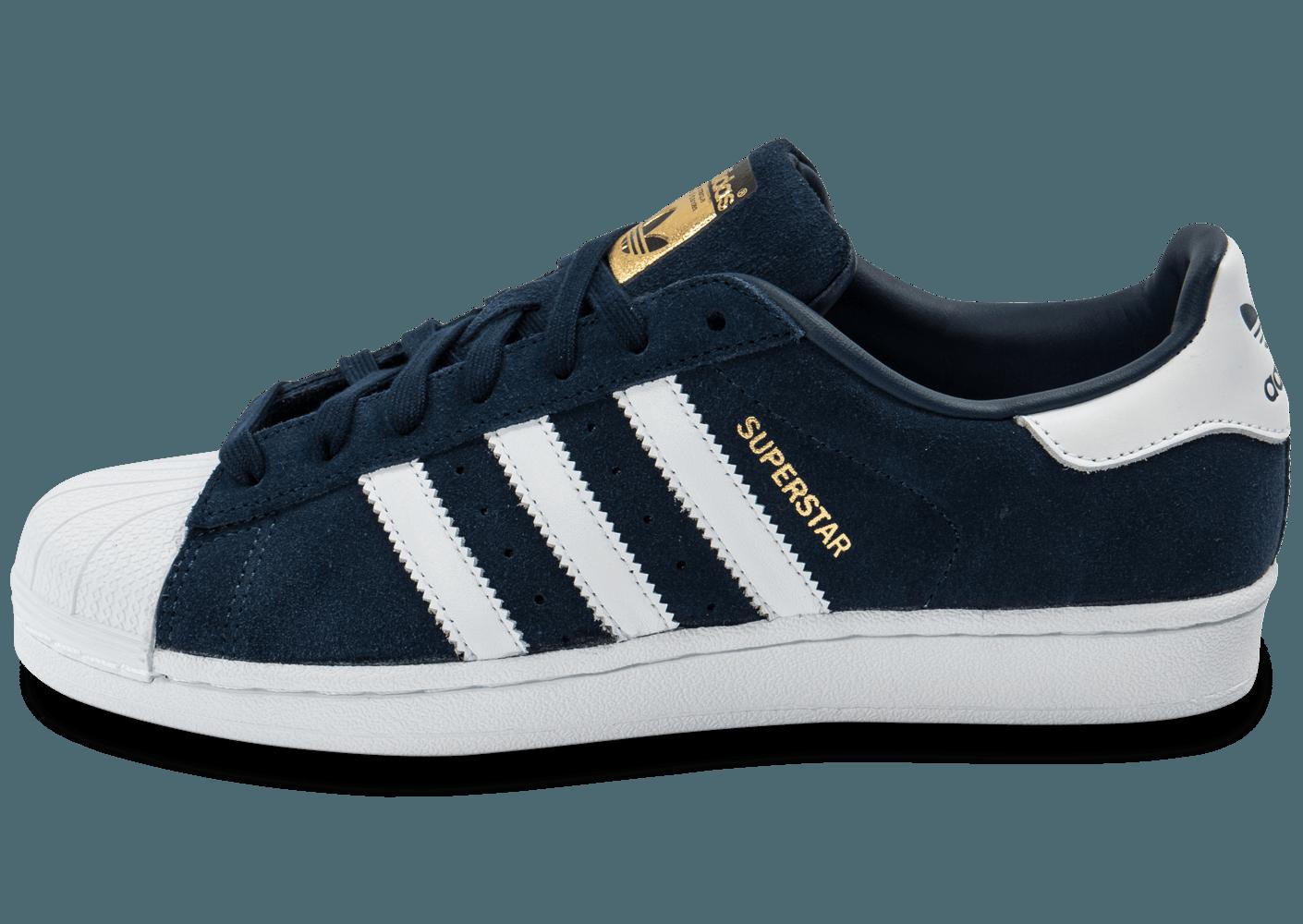 adidas superstar marine,adidas Superstar Suede bleu marine