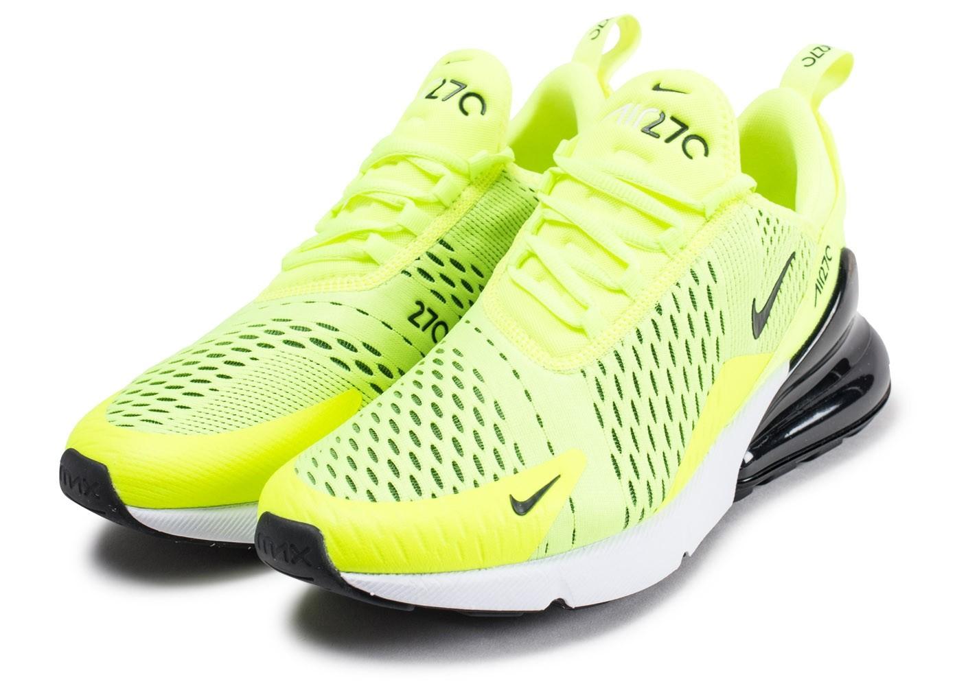 air max fluo,Chaussures Nike Air Max 270 vert fluo vue